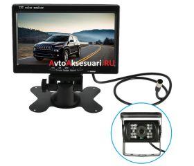 Камера заднего вида 1 шт с монитором для грузовиков и автобусов PZ470/1